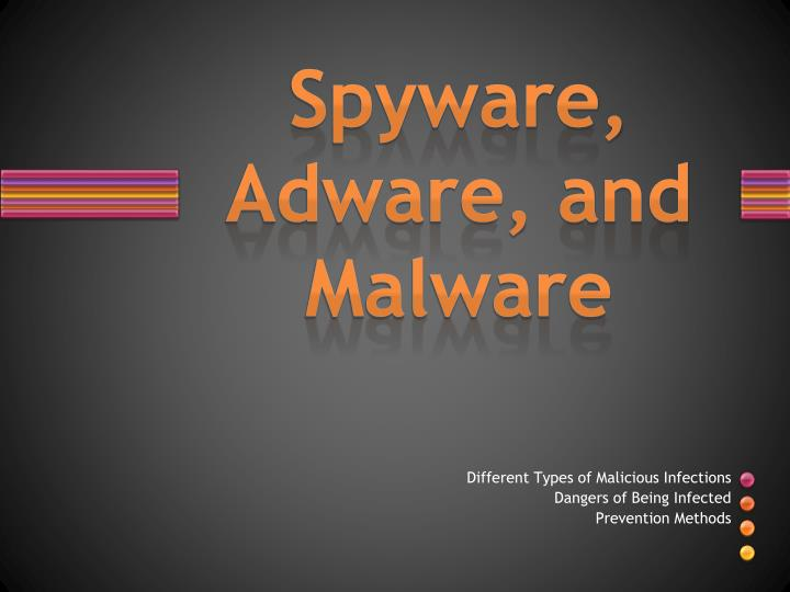 Spyware adware and malware
