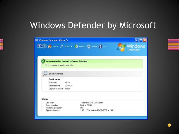 Windows Defender by Microsoft