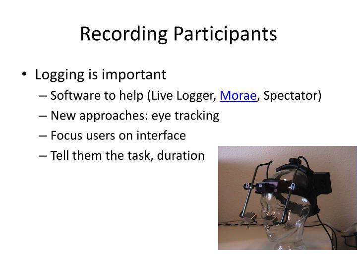 Recording Participants