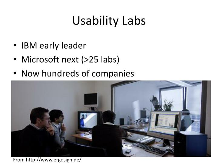 Usability Labs