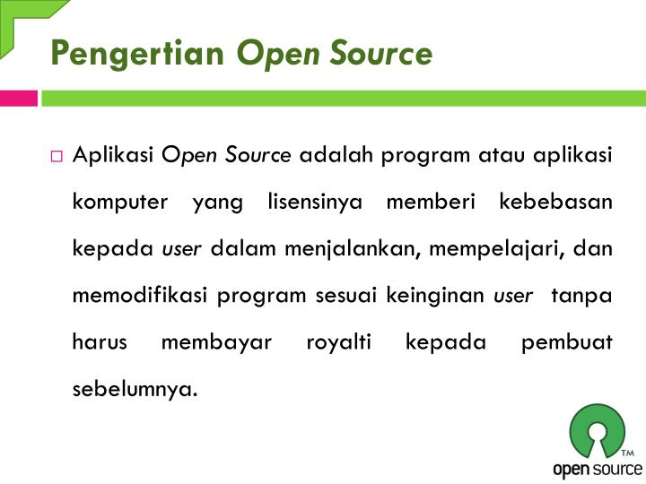 Pengertian open source