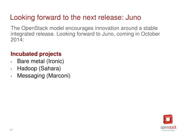 Looking forward to the next release: Juno