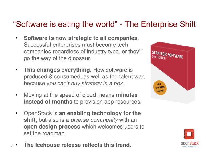Software is eating the world the enterprise shift