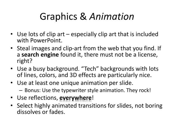 Graphics &