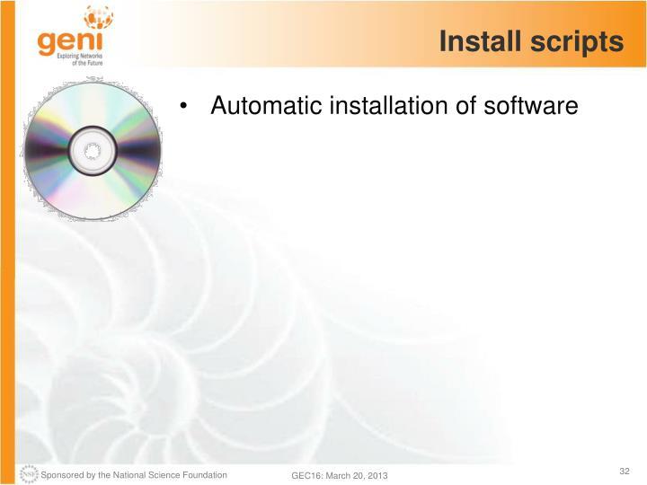 Install scripts