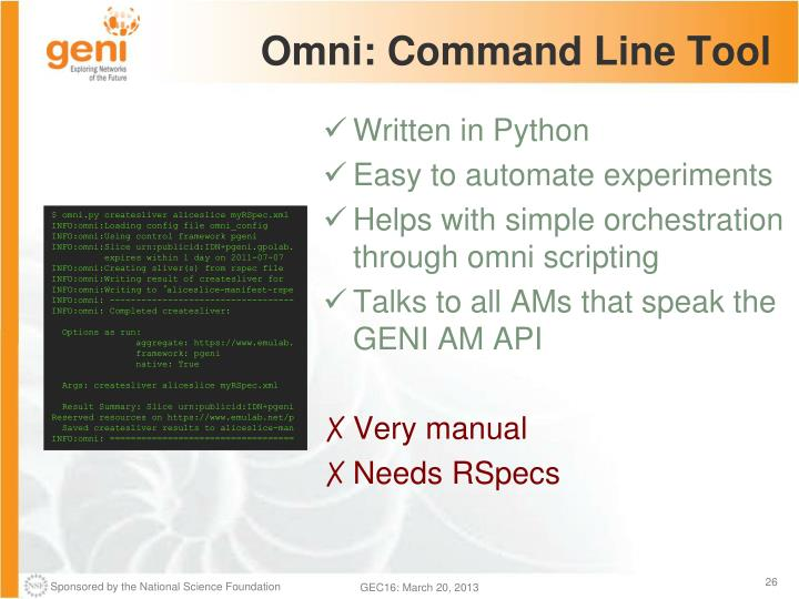 Omni: Command Line Tool