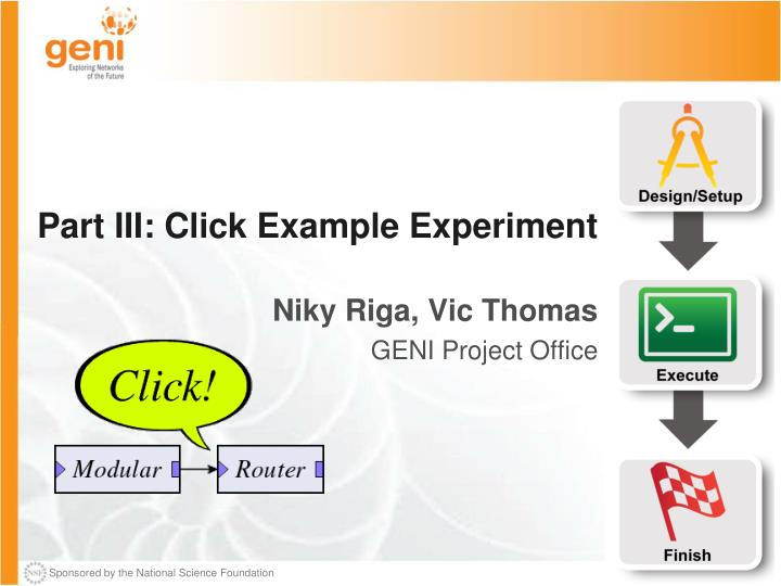 Part III: Click Example Experiment