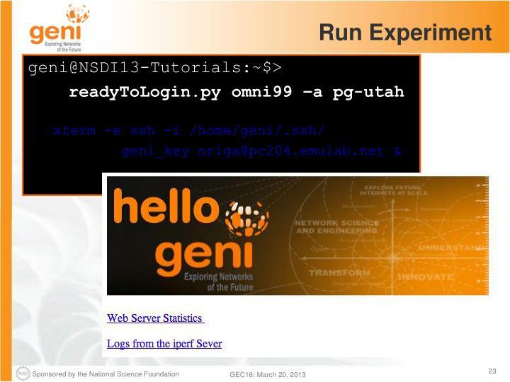 Run Experiment