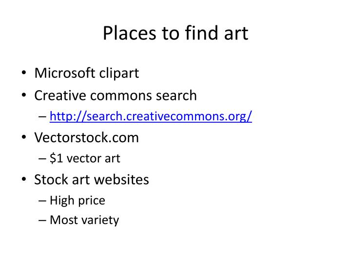 Places to find art