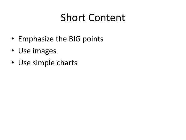 Short Content