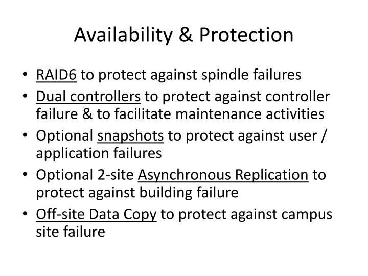 Availability & Protection