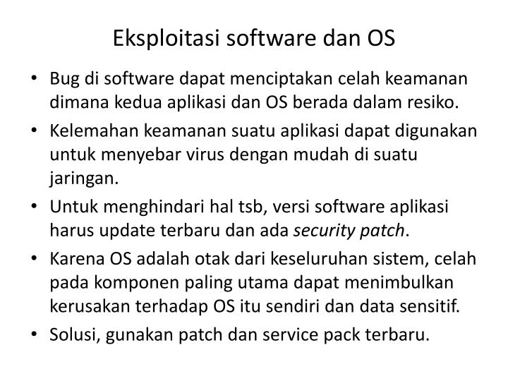 Eksploitasi software dan OS