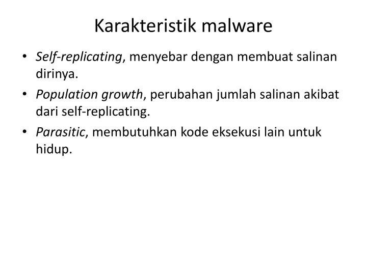 Karakteristik malware