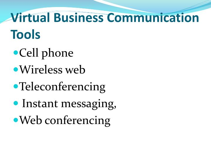 Virtual Business Communication Tools