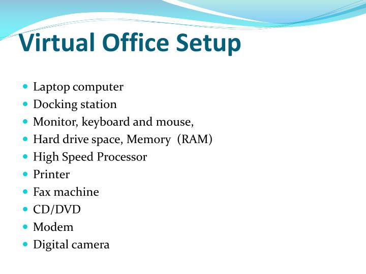 Virtual Office Setup