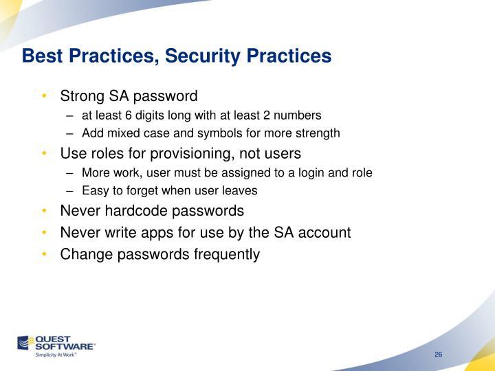 Best Practices,
