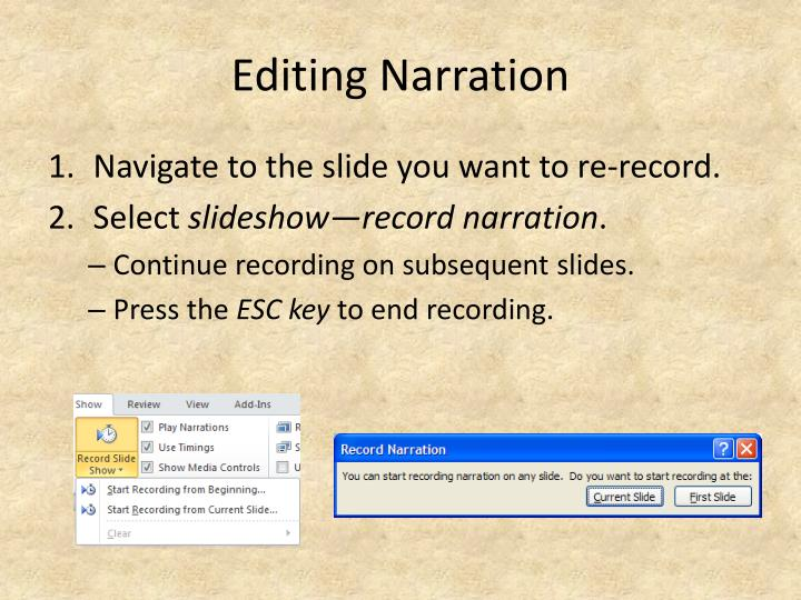 Editing Narration