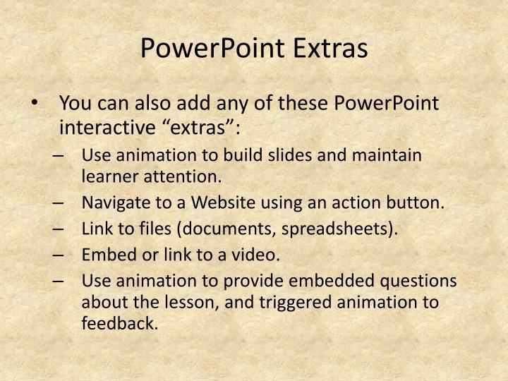 PowerPoint Extras