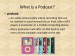 what is a podcast1