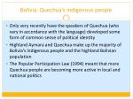 bolivia quechua s indigenous people