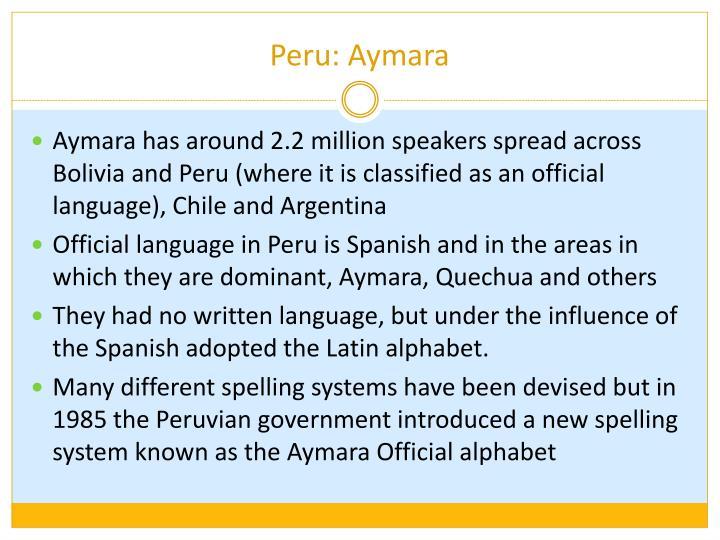 Peru: Aymara