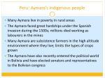 peru aymara s indigenous people