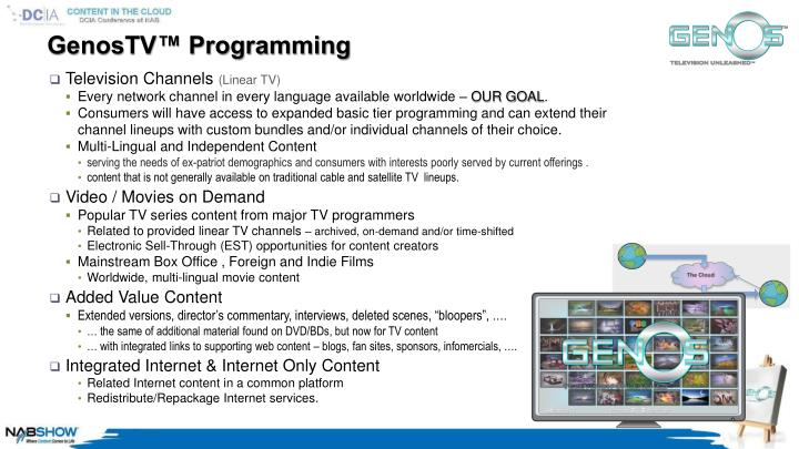 GenosTV™ Programming