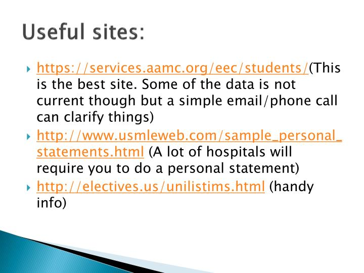 Useful sites: