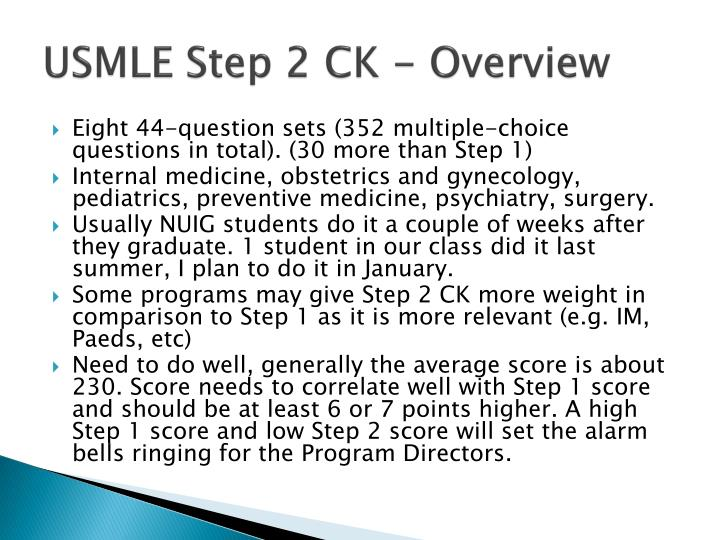 USMLE Step 2 CK - Overview
