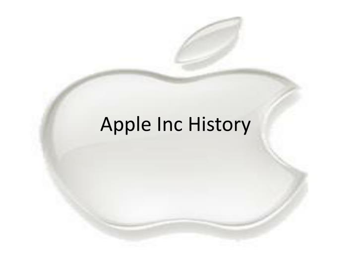 Apple Inc History