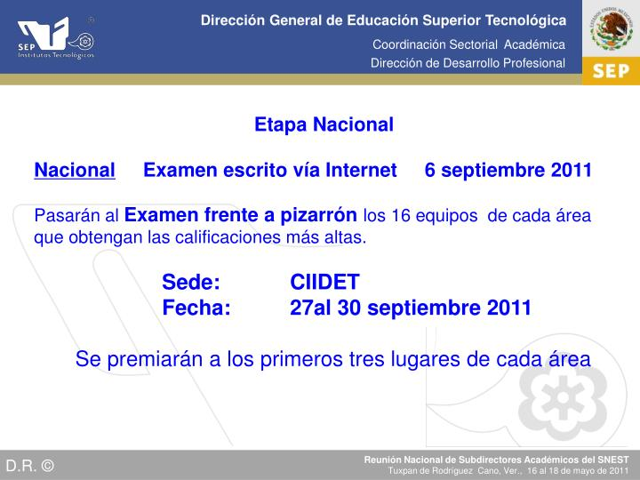 Etapa Nacional