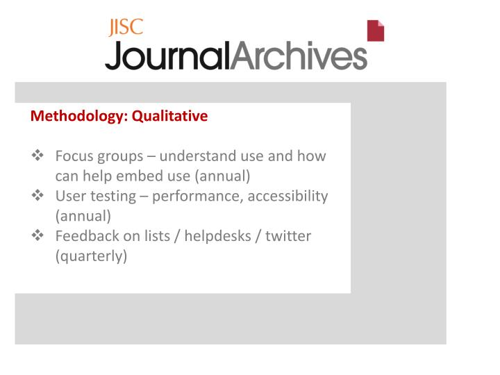 Methodology: Qualitative