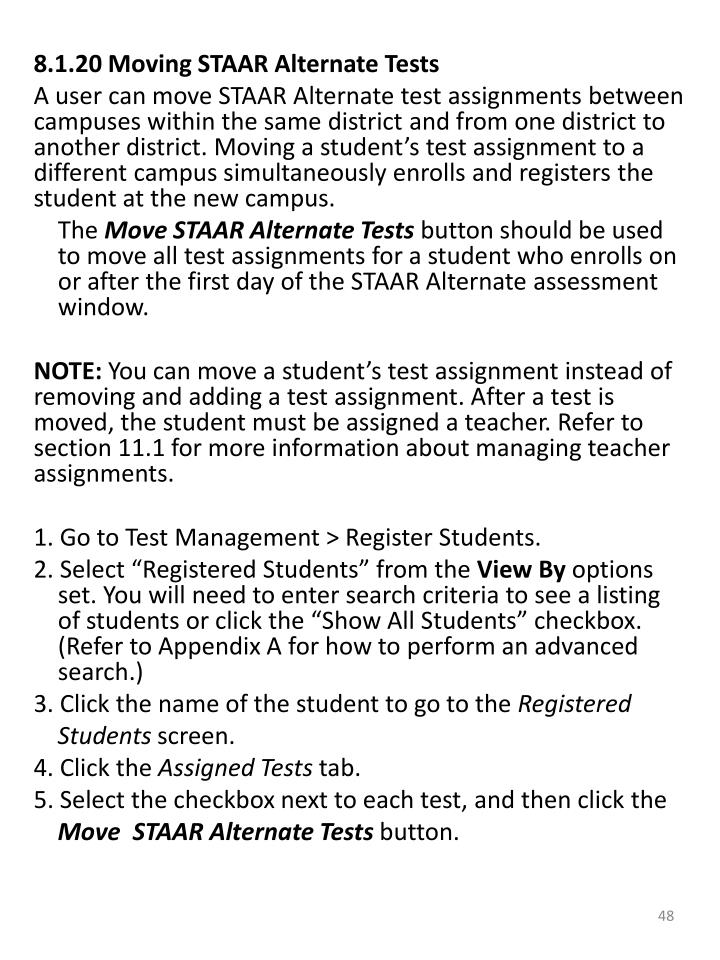 8.1.20 Moving STAAR Alternate