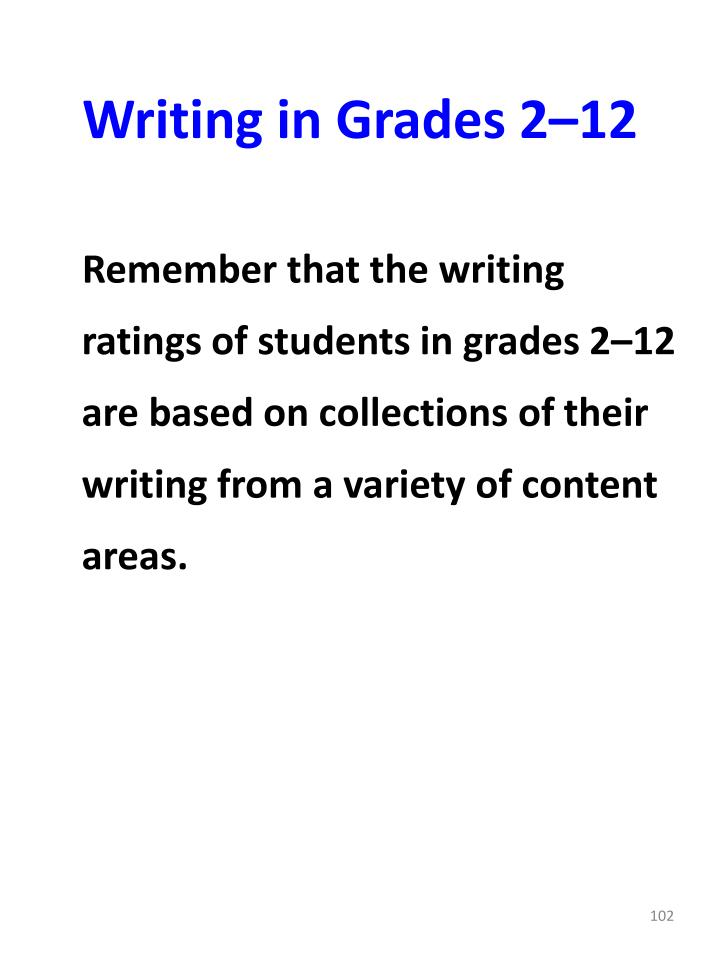 Writing in Grades 2