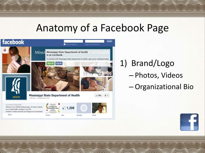 Anatomy of a Facebook Page