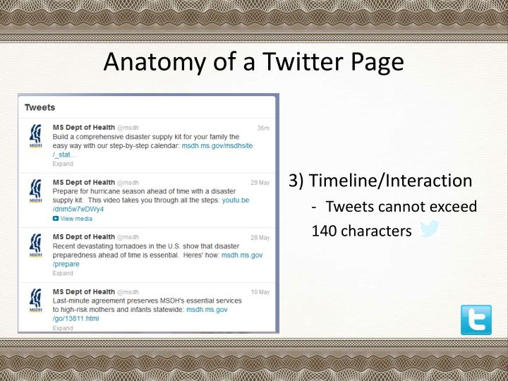 Anatomy of a Twitter Page