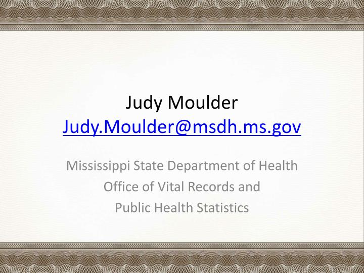 Judy Moulder