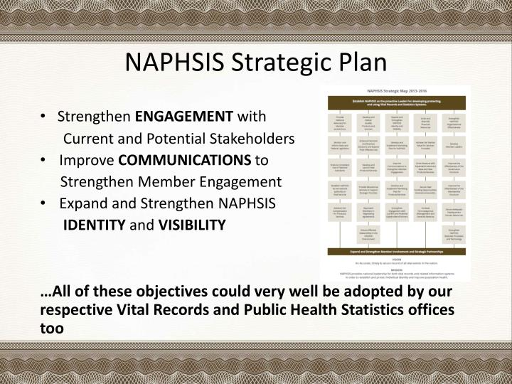 NAPHSIS Strategic Plan
