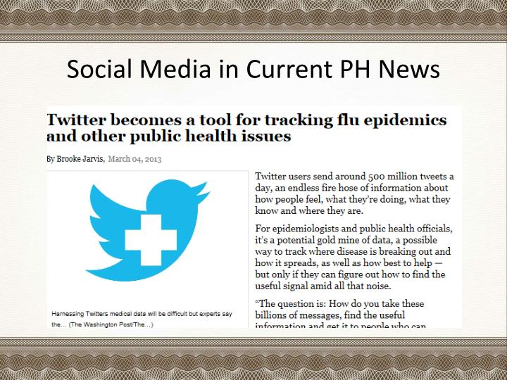 Social media in current ph news