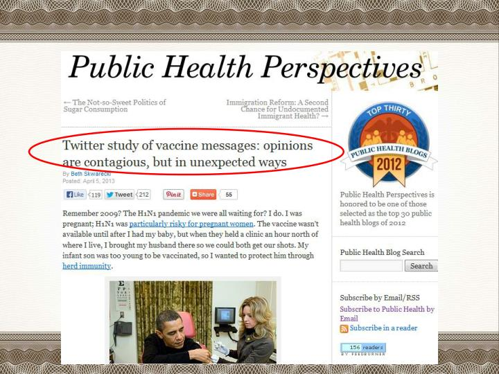 Twitter in Public Use