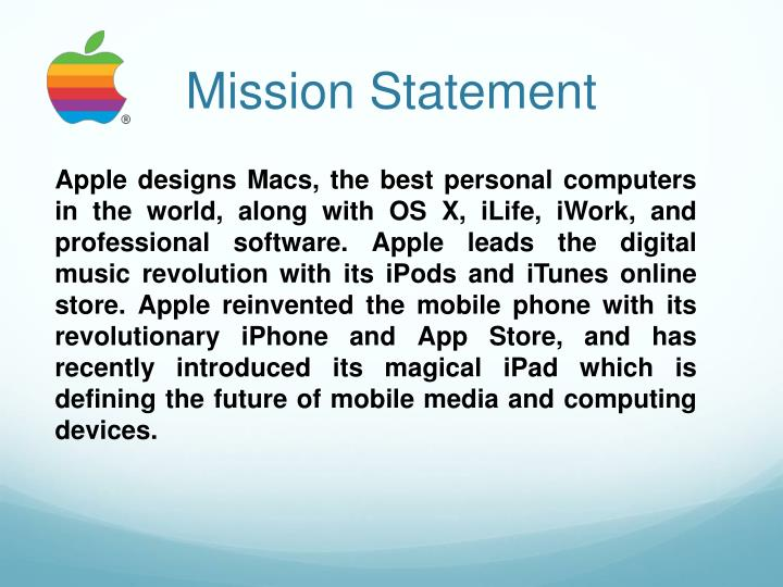 apple mission statement essay