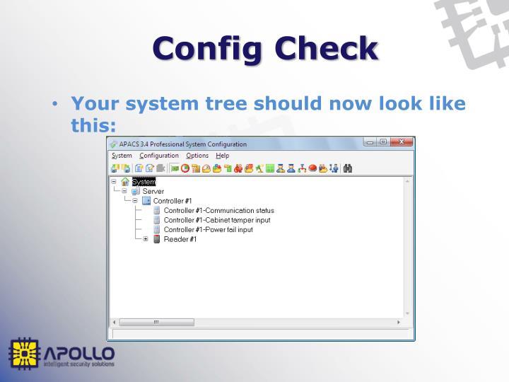 Config Check