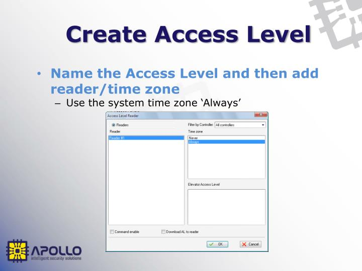 Create Access Level