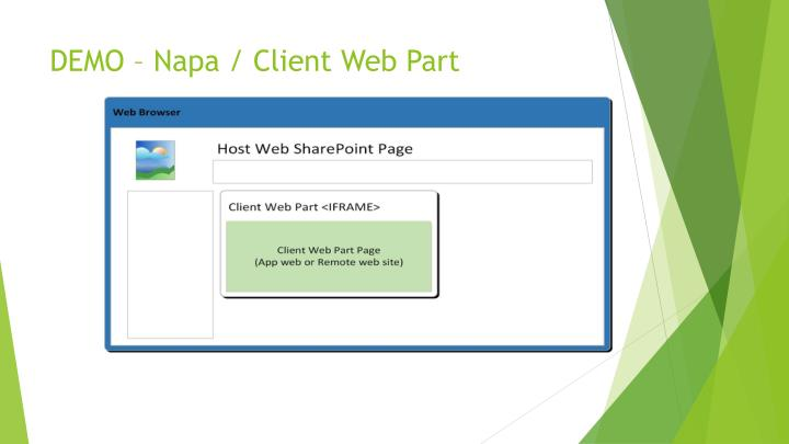 DEMO – Napa / Client Web Part