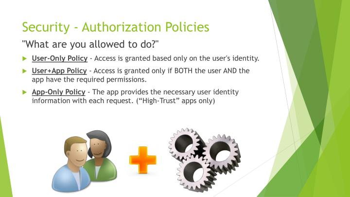 Security - Authorization Policies