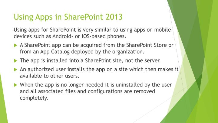 Using Apps in SharePoint 2013