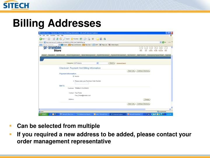 Billing Addresses