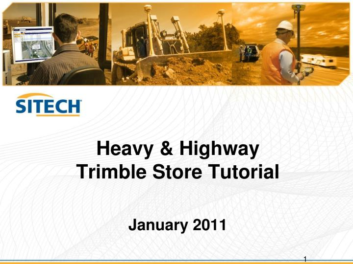 Heavy highway trimble store tutorial