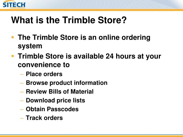 What is the trimble store