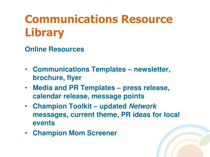 Communications Resource Library
